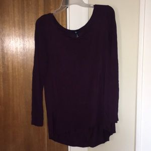Gap Purple Long Sleeve Top